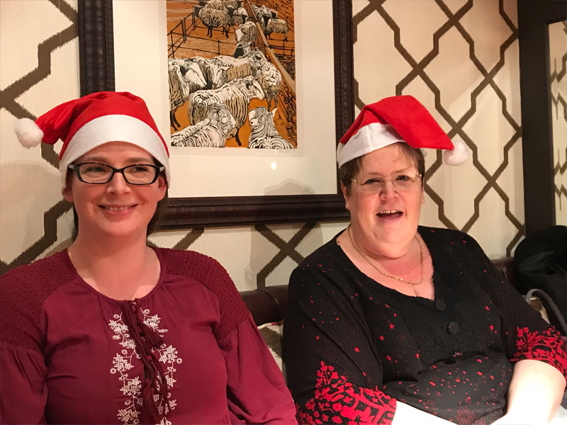 Victoria & Marion at the Christmas Meal