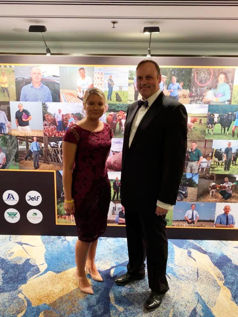 Oliver Dale, Managing Director and Mia Bambury, Health & Safety Consultant, attend the Farmers Weekly Awards at The Grosvenor Hotel, London